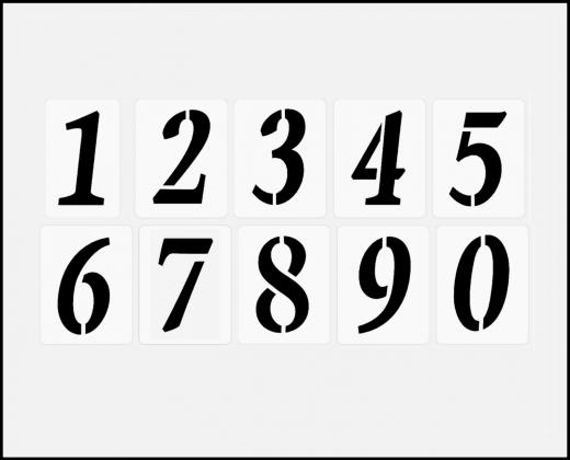 Einzelne Zahl 6cm hoch Zahlen-Schablonen einzelne Schablonen Nr.1