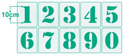 Einzelne Zahl 10cm hoch ● Zahlen-Schablonen einzelne Schablonen Nr.5