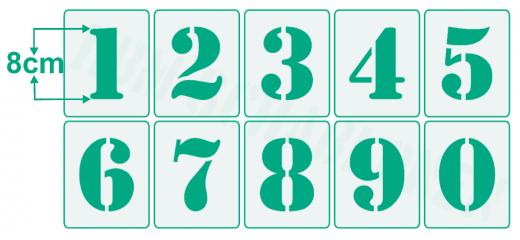 Einzelne Zahl 8cm hoch ● Zahlen-Schablonen einzelne Schablonen Nr.5