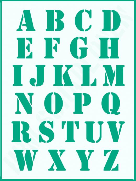 Schrift-Schablone Druckbuchstaben groß ● ca. 3,5cm Alphabet Nr.5