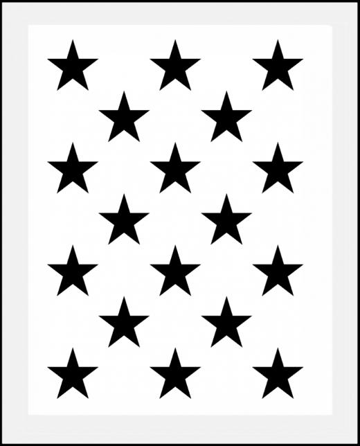 Muster-Schablone Sterne Nr.4 für Hintergründe auf Wand - Möbel oder Textilien