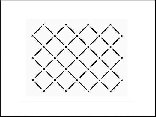 Gitter - Muster-Schablone Nr.1 für Hintergründe auf Wand - Möbel oder Textilien