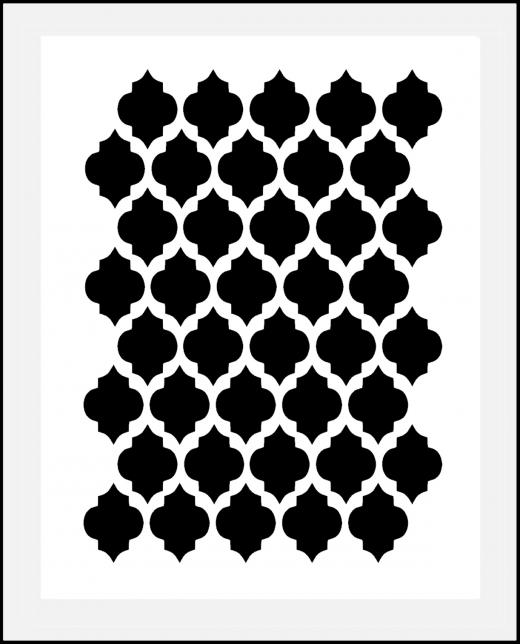 Gitter - Muster-Schablone Orient Nr.2 für Hintergründe