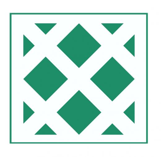 Geometrisches Muster Nr.03 | 15cm x 15cm - Schablonen für Fliese - Wand - Möbel|