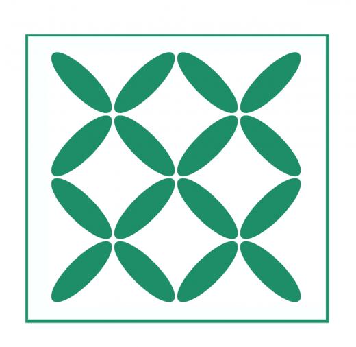 Geometrisches Muster Nr.05 | 10cm x 10cm - Schablonen für Fliese - Wand - Möbel|