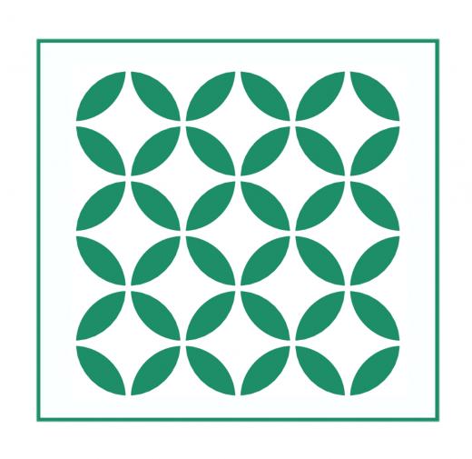 Geometrisches Muster Nr.06 | 10cm x 10cm - Schablonen für Fliese - Wand - Möbel|