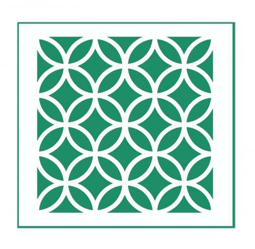 Orientalisches Muster Nr.07 | 20cm x 20cm - Schablonen für Fliese - Wand - Möbel|