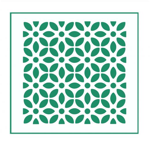 Blumen Muster Nr.09 | 20cm x 20cm - Schablonen für Fliese - Wand - Möbel|