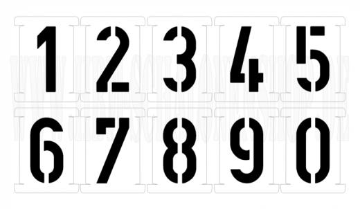 Einzelne Steckschablonen ● 10cm hoch ● 1 Satz Zahlen 0-9