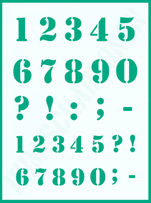Zahlenschablone Nr. 5 ● Zahlen 3,5cm und 2,5cm hoch