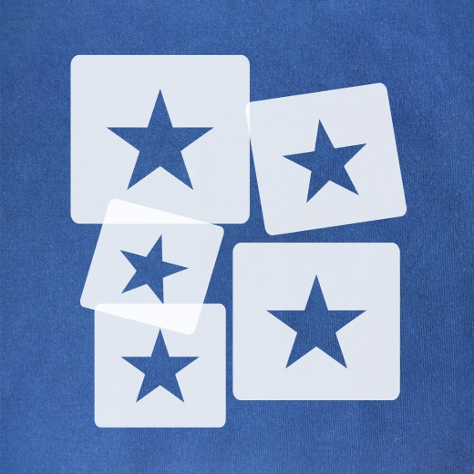 Schablonen Set ● 5 einzelne Sterne ● 6cm, 7cm, 8cm, 9cm und 10cm groß