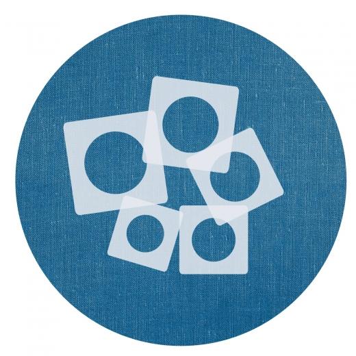 Schablonen Set ● 5 einzelne Kreise ● 1cm, 2cm, 3cm, 4cm und 5cm groß