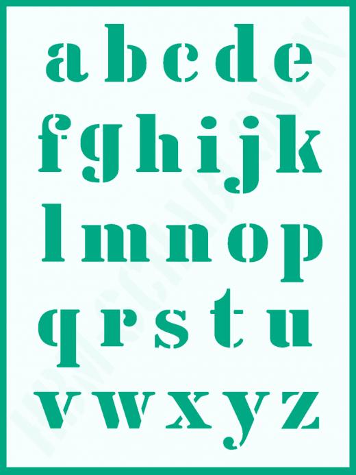 Schrift-Schablone Druckbuchstaben klein ● Alphabet Nr.5