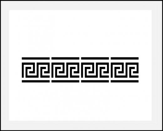 Motiv-Schablone griechische ● Bordüre Mäander 3cm hoch