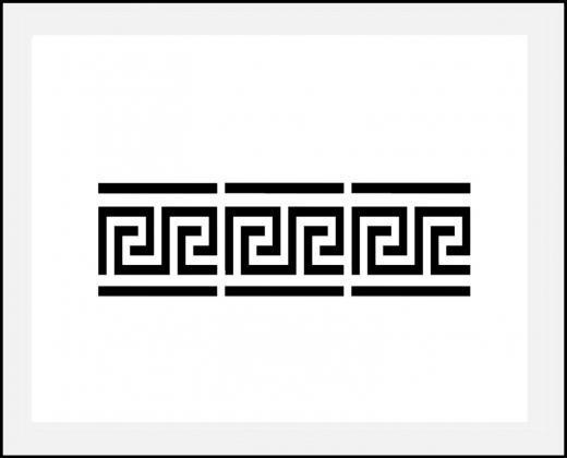 Motiv-Schablone ● griechische Bordüre Mäander 4cm hoch