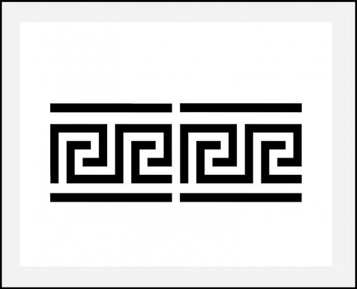 Motiv-Schablone griechische Bordüre Mäander ● 6cm hoch