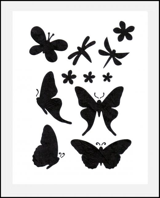 Motiv-Schablone ● Schmetterlinge und Libellen