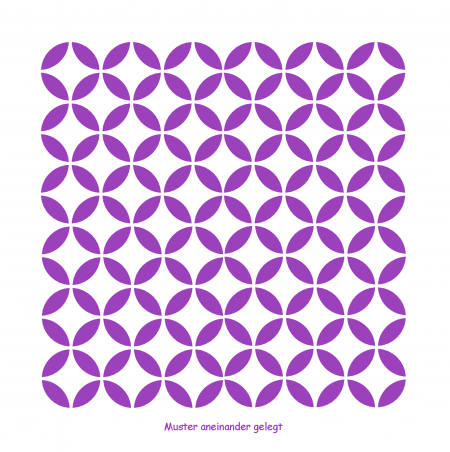 Möbel oder Textilien Muster-Schablone Kreise für Hintergründe auf Wand