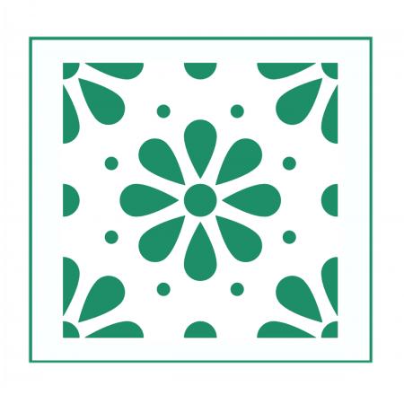 Blumen Muster Nr.08 | 20cm X 20cm   Schablonen Für Fliese U2022 Wand U2022 Möbel