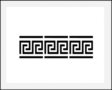 Motiv Schablone ○ Bordüre Mäander 4cm hoch - hbm-schablonenshop