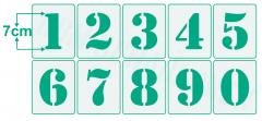Einzelne Zahl 7cm hoch Zahlen-Schablonen einzelne Schablonen Nr.5