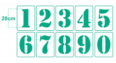 Einzelne Zahl 20cm hoch ● Zahlen-Schablonen einzelne Schablone