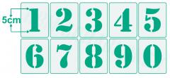 Schrift-Schablone Druck-Buchstaben ● 5cm hoch Alphabet groß Nr.5