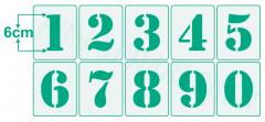Einzelne Zahl 6cm hoch ● Zahlen-Schablonen einzelne Schablonen Nr.5