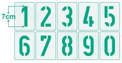 Einzelne Zahl 7cm hoch Zahlen-Schablonen einzelne Schablonen Nr. 35
