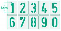 Einzelne Zahl 6cm hoch Zahlen-Schablonen einzelne Schablonen Nr. 35