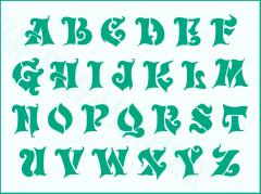 Schrift-Schablone Buchstaben groß ● ca. 3,5cm Alphabet Nr.26