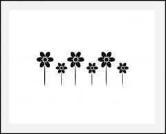 Motiv-Schablone Bordüre Blumen