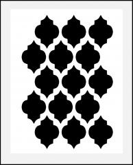 Gitter - Muster-Schablone Orient, für Hintergründe