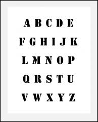 Druckbuchstaben ca. 1cm hoch ● Schrift-Schablone großes Alphabet Nr.5 ABC