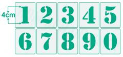 Einzelne Zahl 4cm hoch Zahlen-Schablonen einzelne Schablonen Nr.5