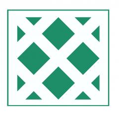 Geometrisches Muster Nr.03 | 10cm x 10cm - Schablonen für Fliese - Wand - Möbel|