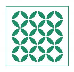 Geometrisches Muster Nr.06 | 15cm x 15cm - Schablonen für Fliese - Wand - Möbel|