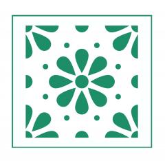 Blumen Muster Nr.08 | 10cm x 10cm - Schablonen für Fliese • Wand • Möbel