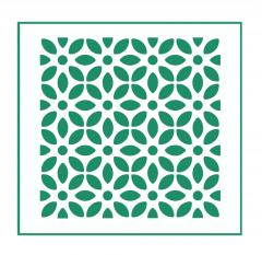 Blumen Muster Nr.09 | 10cm x 10cm - Schablonen für Fliese • Wand • Möbel