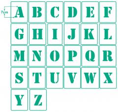 Einzel - Schablonen Buchstaben ● 7cm hoch Alphabet Druckbuchstaben