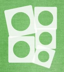 Schablonen Set ● 5 einzelne Kreise ● 6cm, 7cm, 8cm, 9cm und 10cm groß