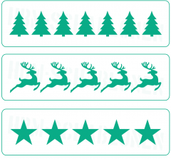 Nr. 01 ● 3er Set Weihnachts-Bordüren ● Motiv - Schablonen