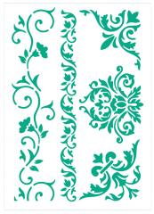 Motiv-Schablone Ornamente und Ecken