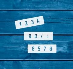 Zahlen 0-9 ca. 2,5cm hoch Zahlen-Schablone Nr.35