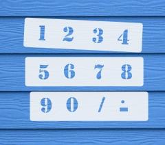 Zahlen 0-9 ca. 2,5cm hoch Zahlen-Schablone Nr.5