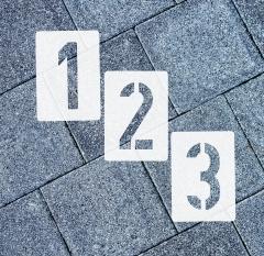 Ziffern 0-9 ● 30cm hoch Zahlen-Schablonen-Set Nr.35 ● 10 einzelne Schablonen
