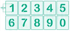 Einzelne Zahl 15cm hoch ● Zahlen-Schablonen einzelne Schablonen Nr.2