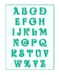 Schrift-Schablone Buchstaben ● ca. 1,5cm hoch Schnörkelschrift Nr.6 großes Alphabet