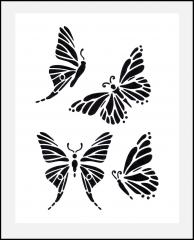 Buchstaben 4cm hoch Schrift-Schablonen-Set Nr.5 / 30 einzelne Schablonen