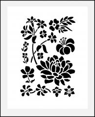 Motiv-Schablone Blumen